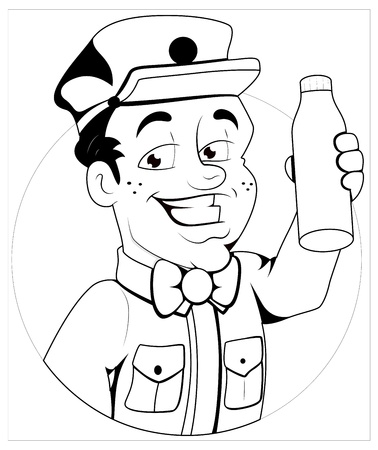 milkman: Milkman -  Character Illustration Illustration