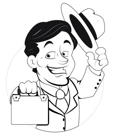 Agent  Illustration Stock Vector - 16775137
