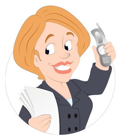 donna con telefono: Ufficio Donna