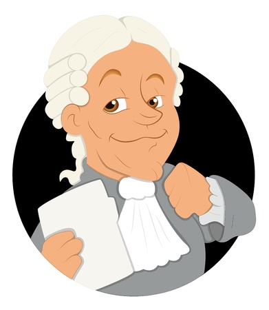 Magistrate Cartoon  Illustration Vector