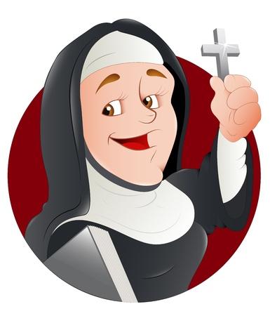 Illustration Nun