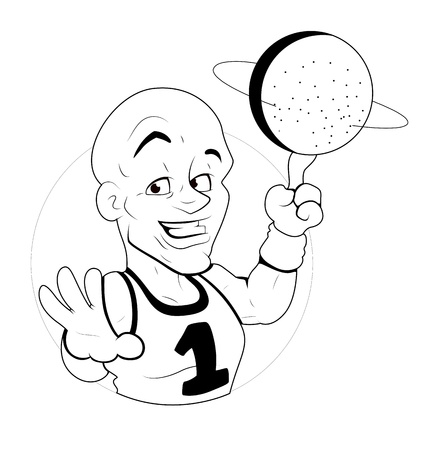 Volleyball Player  Illustration Vector