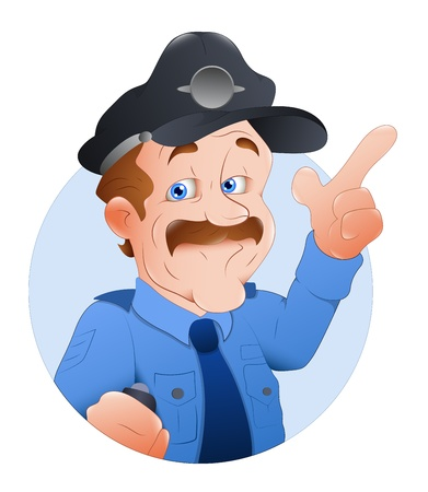 police cartoon: Traffic Police Officer  Illustration Illustration