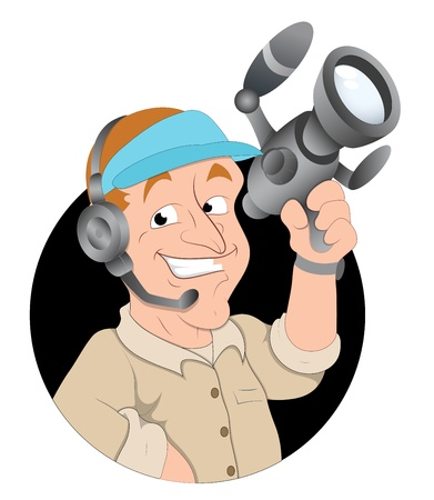journalist: Cartoon Cameraman
