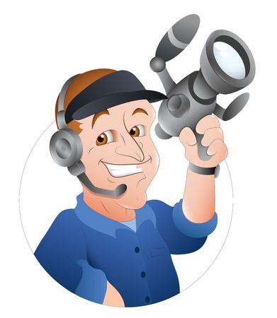 handy cam: Cameraman Cartoon