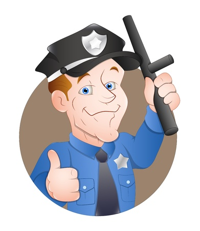 Cartoon Policeman Vector