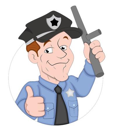 guard duty: Personaje de dibujos animados Polic�a