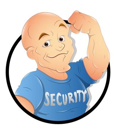 hombre fuerte: Guardia de seguridad