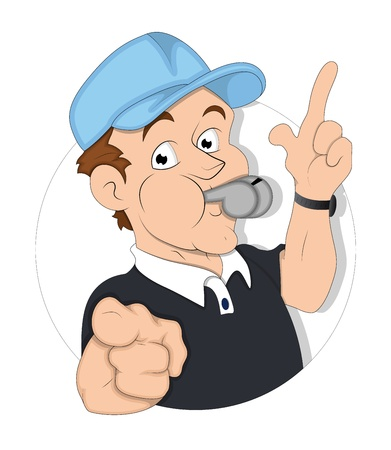 Cartoon Referee Illustration Vector