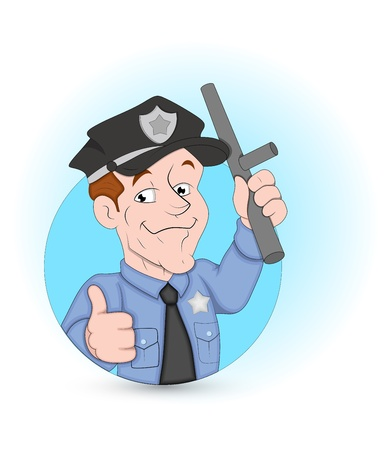 watchman: Policeman Illustration