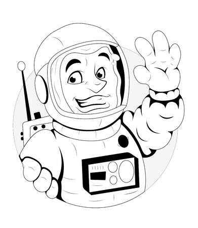 Cartoon Astronaut Illustration Stock Vector - 16775149