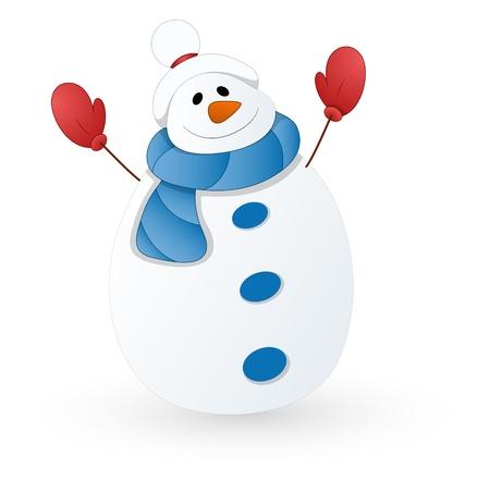 Cute Snowman   Stock Vector - 16832407