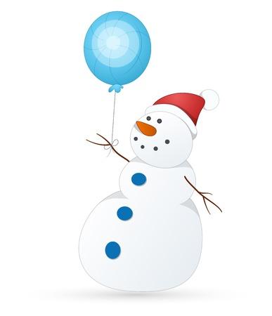 Cute Snowman Stock Vector - 16832204