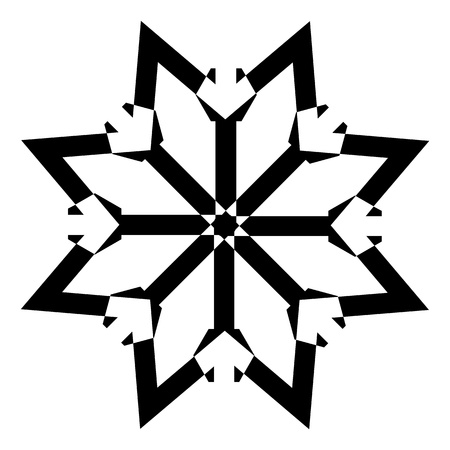 Snowflake Star Stock Vector - 16831741