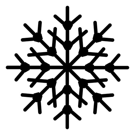 Snowflake Shape Vector
