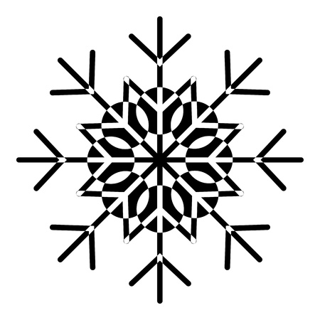 Decorative Snowflake Vector
