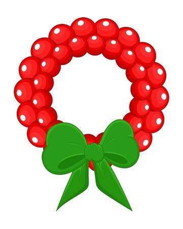 Cartoon Wreath - Christmas  Vector