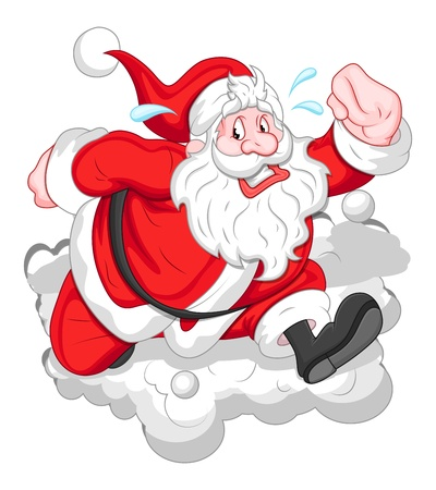 Cartoon Funny Santa - Christmas   Vector