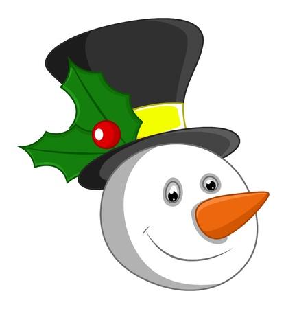 Snowman Face Stock Vector - 16832045