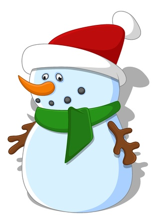 Cartoon Snowman Stock Vector - 16832137