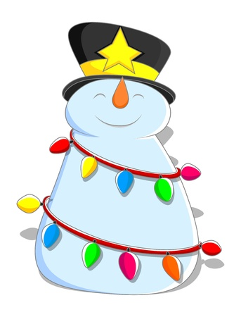 Cute Snowman - Christmas   Vector