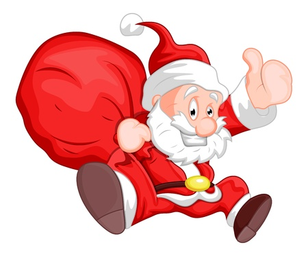 funny man: Santa - Christmas  Illustration