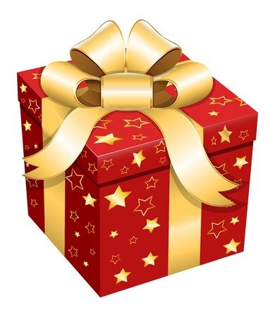 frame  box: Gift Box - Christmas  Illustration