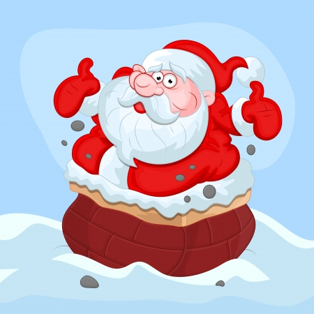 furtively: Cartoon Santa Claus - Christmas
