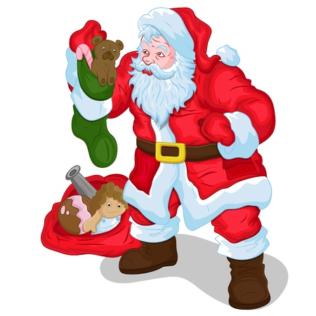 Classic Santa with Gifts and Toys Stock Vector - 16832526