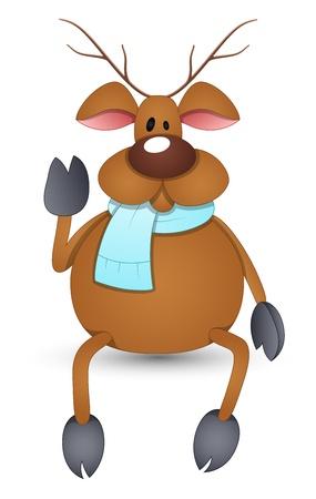 Cartoon Reindeer Stock Vector - 16832314
