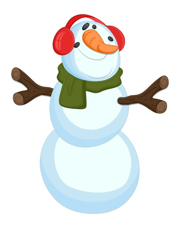 Funny Snowman - Christmas Stock Vector - 16832134