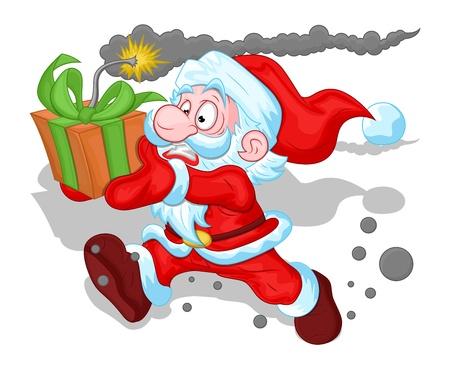 Funny Santa Claus Concept - Christmas Stock Vector - 16832514