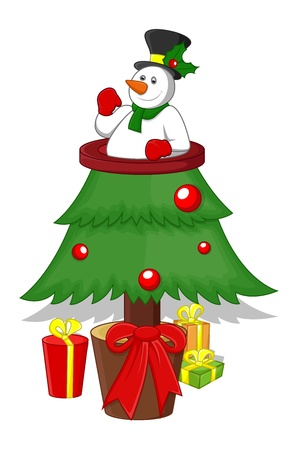 Cartoon Christmas Tree Stock Vector - 16832207