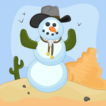christmas cactus: Snowman