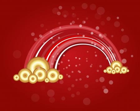 Red Fantasy Christmas Stock Vector - 16832263