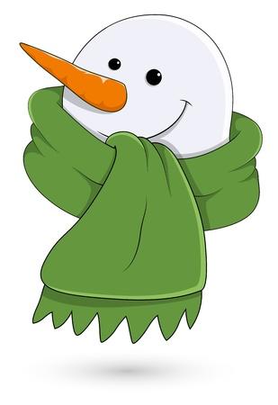 Snowman Face   Vector