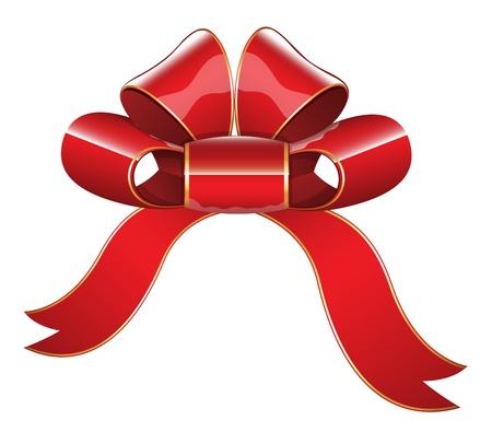 Red Glossy Ribbon Bow