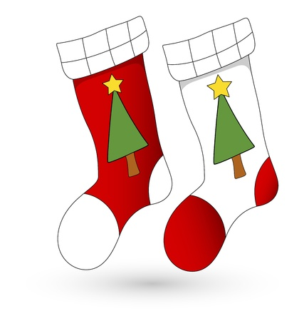 christmas sock: Cartoon Stockings - Christmas