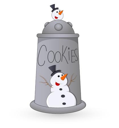 christmas cookie: Cookie Jar - Christmas  Illustration