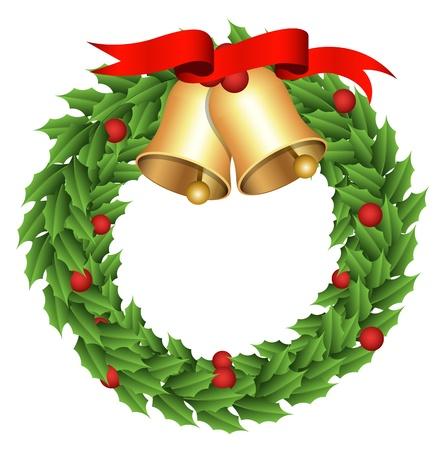 christmas cartoon: Wreath - Christmas
