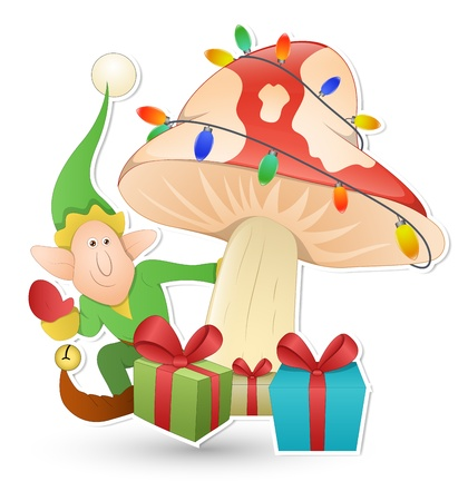 Cartoon Cute Elf - Christmas  Illustration Stock Vector - 16832617