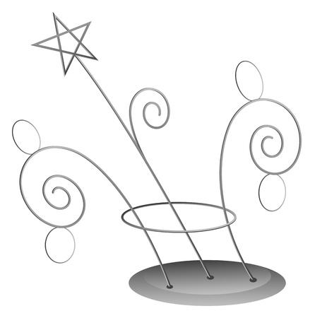 Spiral Decoration - Christmas Stock Vector - 16832068