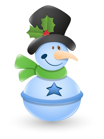Snowman  Illustration Stock Vector - 16832620