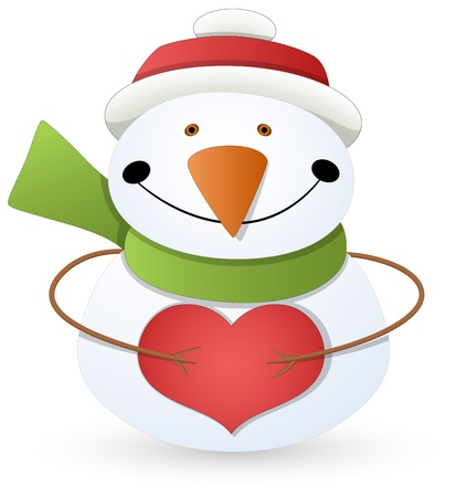 Cartoon Snowman - Christmas Stock Vector - 16832316