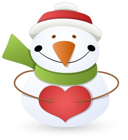 Cartoon Snowman - Christmas Stock Vector - 16832316