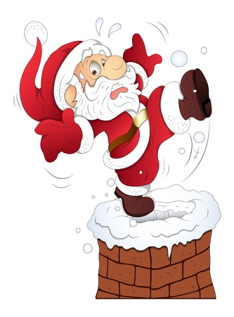 Funny Santa - Christmas  Vector