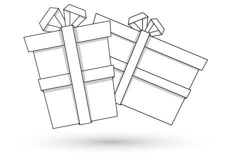 Paper Gift Boxes - Christmas  Stock Vector - 16832205