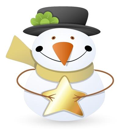 Snowman - Christmas Stock Vector - 16832308