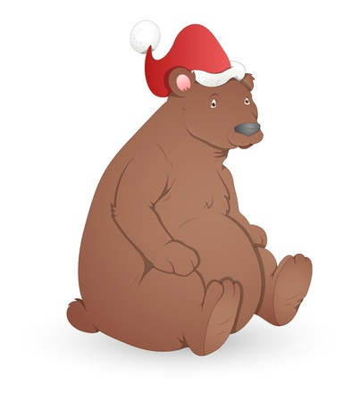 Bear - Christmas  Illustration Vector