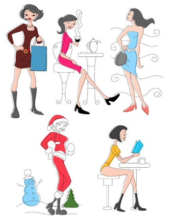 Fashionable Women   Vector